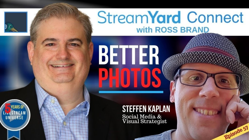 StreamYard Connect with Ross Brand Ep57 Steffen Kaplan photography