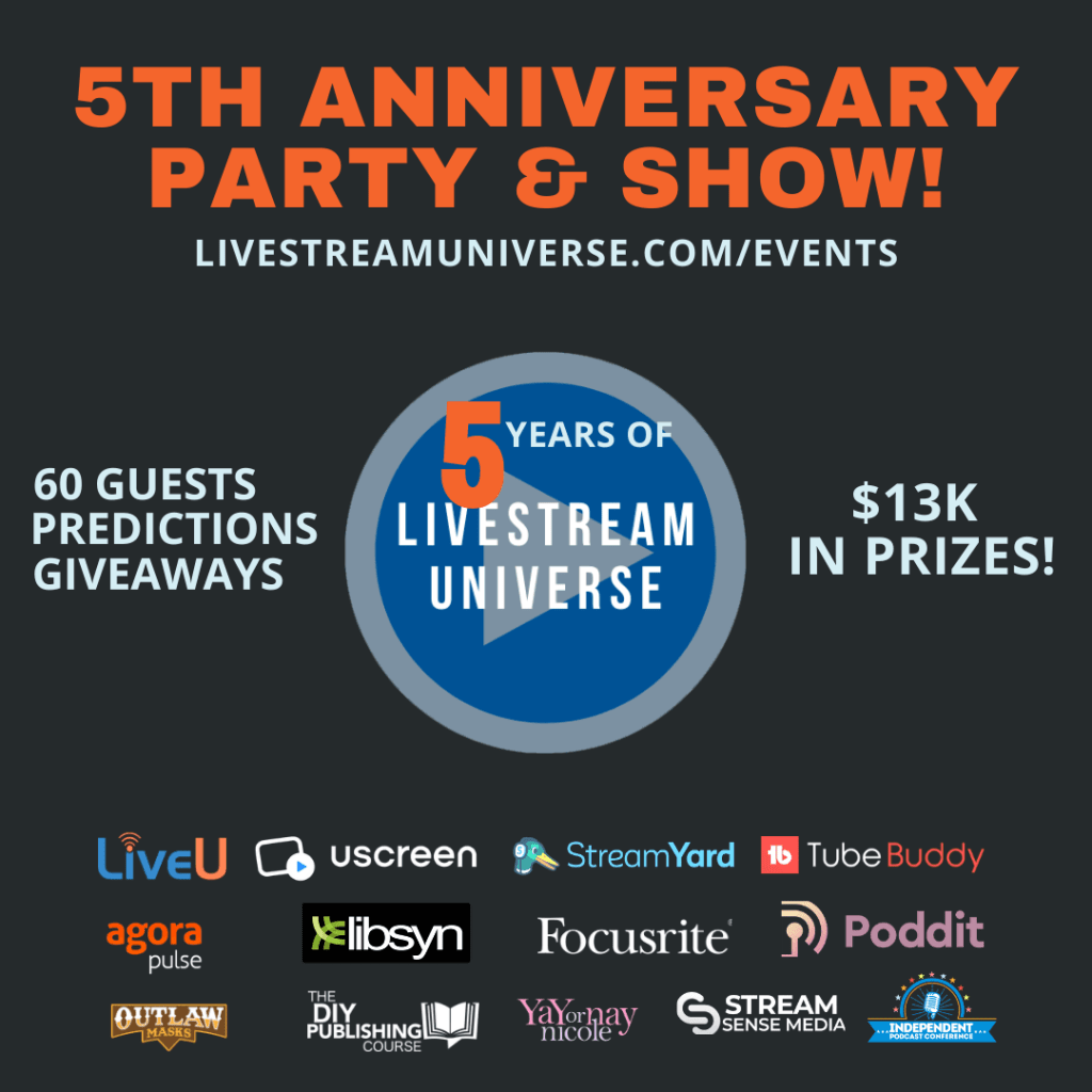 Livestream Universe 5th anniversary party show Predictions for Live Streaming 2021 Ross Brand