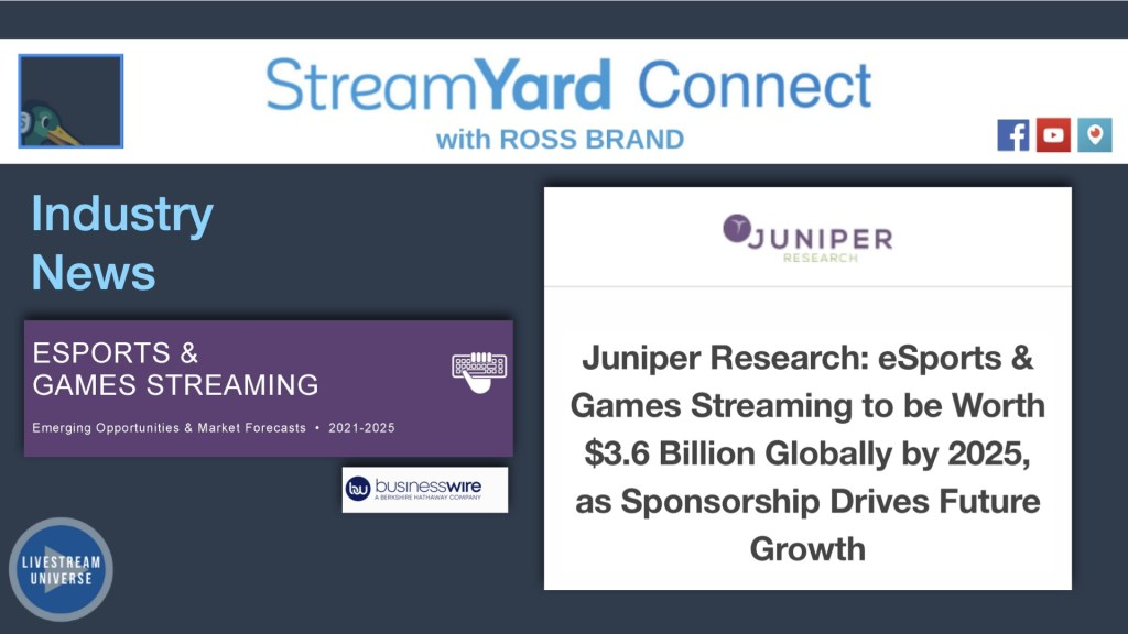 Ep62 streamyard connect with ross brand esports games streaming