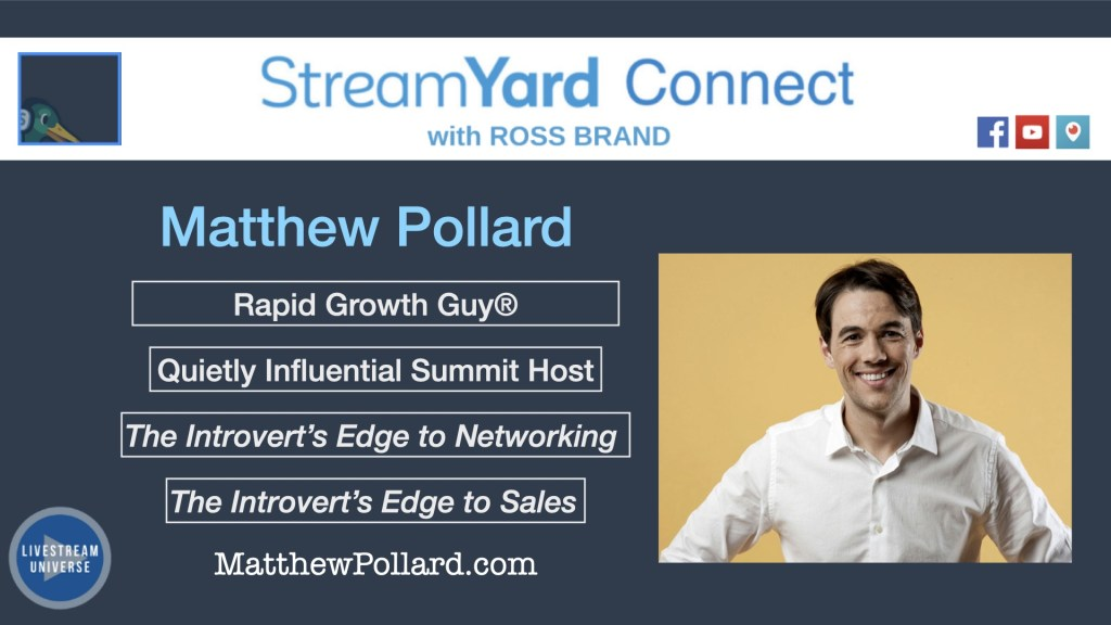Quiet panel ep 61 matthew pollard streamyard connect with ross brand