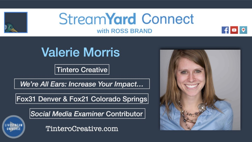 Quiet panel ep 61 valerie morris streamyard connect with ross brand