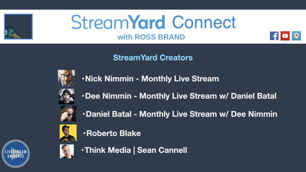 StreamYard Creators YouTubers StreamYard Connect with Ross Brand