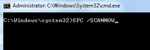 SFC SCAN IN CMD