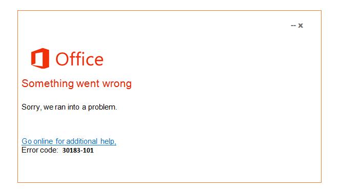 Error 30183-101
