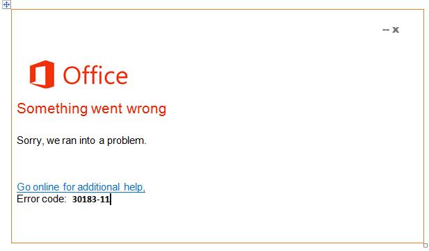 Error 30183-11