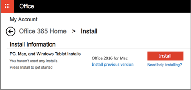 Install the office