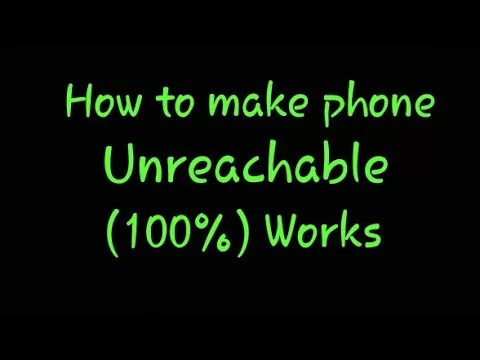 Make Your Android Phone Unreachable Without Switching Off