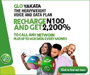 Glo Yakata Heavyweight Voice and 6gb Data Plan