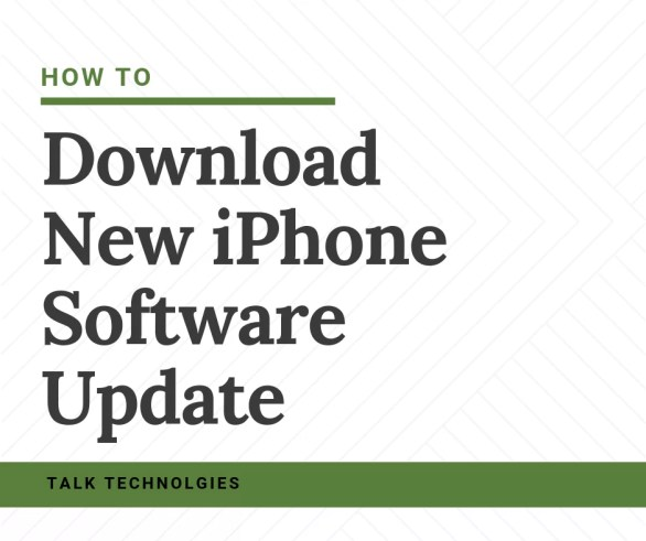 Download New iPhone Software Update