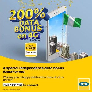 Independence Special Offer: Get 200% Data Bonus from MTN