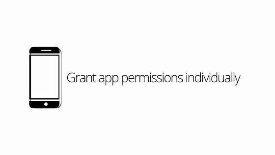 Grant app permissions individually