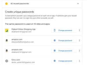 check passwords button