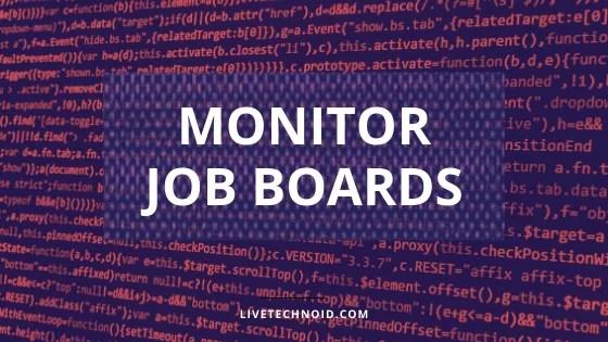monitor job boards