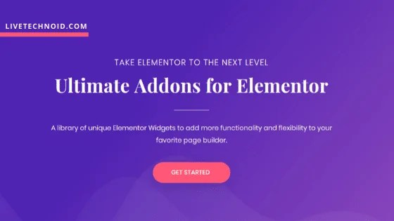 Latest Ultimate Addons for Elementor Free Download