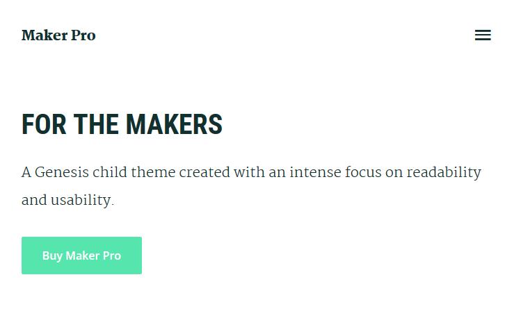 Download Maker Pro v1.0.1 Genesis Child Multi-Purpose Theme