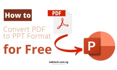 Convert Documents from PDF to PPT Offline