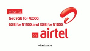 How to Get 9GB for ₦2000, 3GB for ₦1000 on Airtel SIMs