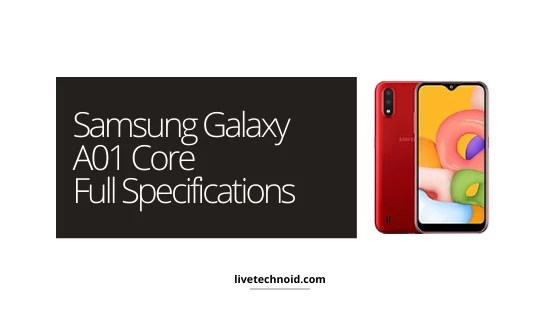 Full Specifications of Samsung Galaxy A01 Core