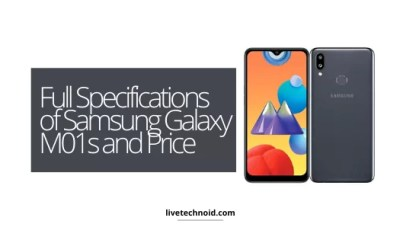 Full Specifications of Samsung Galaxy M01s and Price