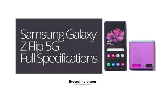 Samsung Galaxy Z Flip 5G Full Specifications
