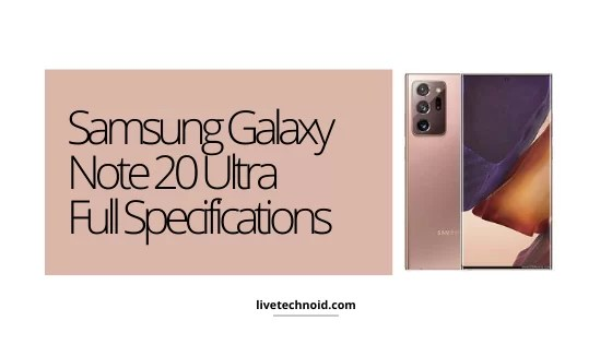Samsung Galaxy Note 20 Ultra Full Specifications