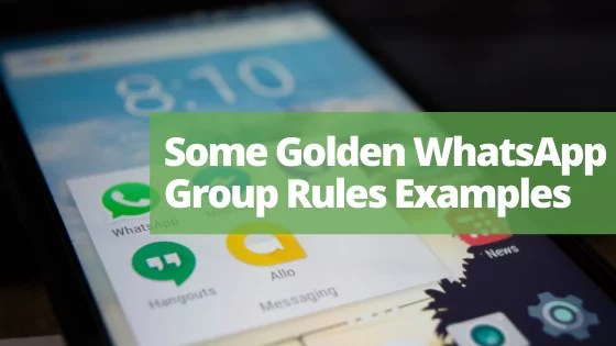 Some Golden WhatsApp Group Rules Examples