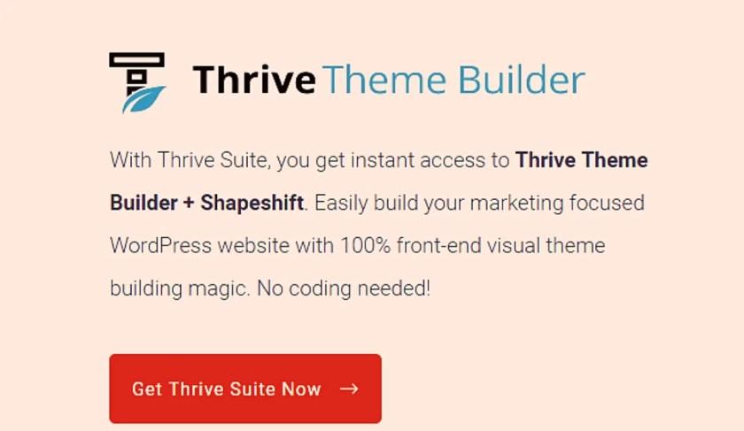 Thrive Theme Builder v2.5.3 + Shapeshift Theme Free Download