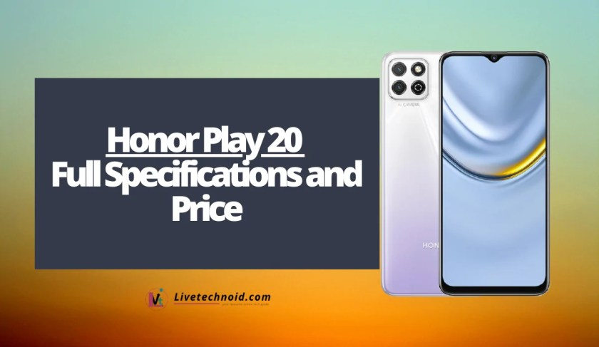 Honor Play 20 Full Specifications and Price