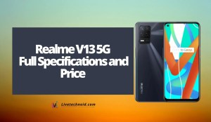 Realme V13 5G Full Specifications and Price
