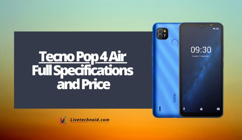 Tecno Pop 4 Air Full Specifications and Price