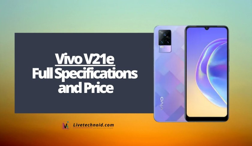 Vivo V21e Full Specifications and Price