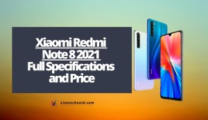 Xiaomi Redmi Note 8 2021 Full Specifications and Price