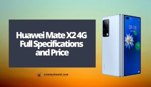 Huawei Mate X2 4G Full Specifications and Price