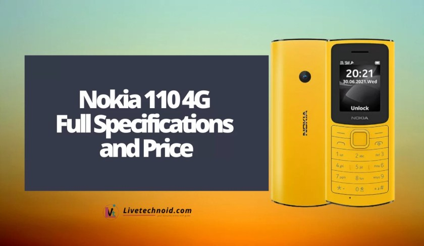 Nokia 110 4G Full Specifications and Price