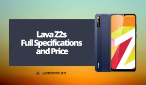 Lava Z2s Full Specifications and Price