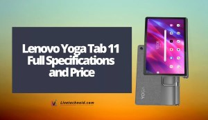 Lenovo Yoga Tab 11 Full Specifications and Price