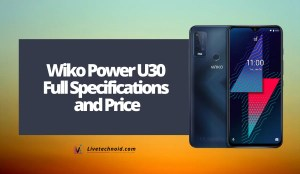 Wiko Power U30 Full Specifications and Price