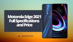 Motorola Edge 2021 Full Specifications and Price
