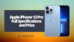 Apple iPhone 13 Pro Full Specifications and Price
