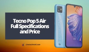 Tecno Pop 5 Air Full Specifications and Price