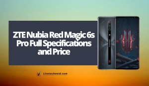 ZTE Nubia Red Magic 6s Pro Full Specifications and Price