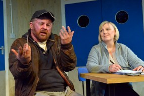 Joe Caffrey and Jackie Lye in Wet House by Paddy Campbell - Copy