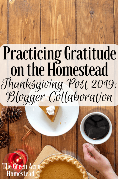 Homestead Blog Hop Feature - Practicing Gratitude on the Homestead