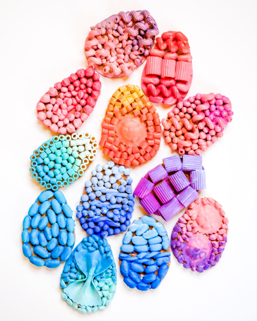 Easter Craft - Mosaic Painted Recycled Eggs - Perfect For Toddlers and Preschoolers.