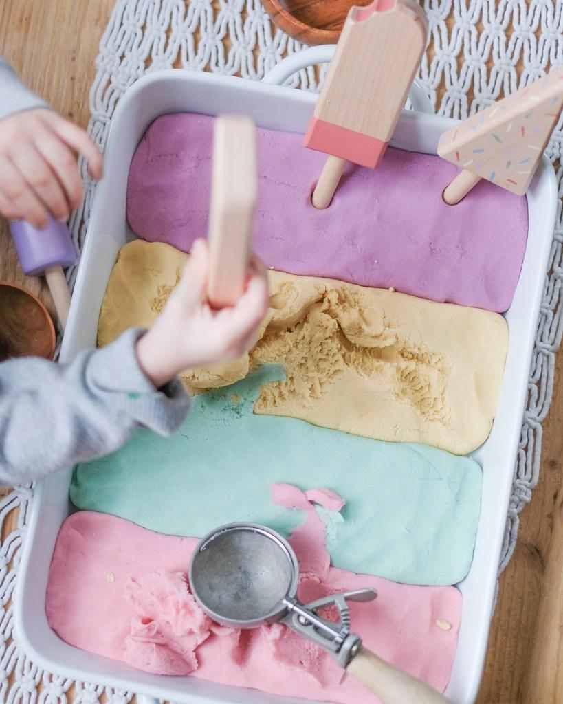 Beautiful Easy Ice Cream Play Dough Recipe