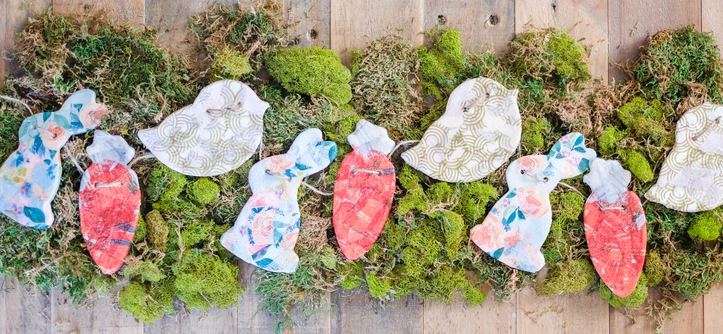 DIY Easter Decor Air Dry Clay Garland @livethescottcottage
