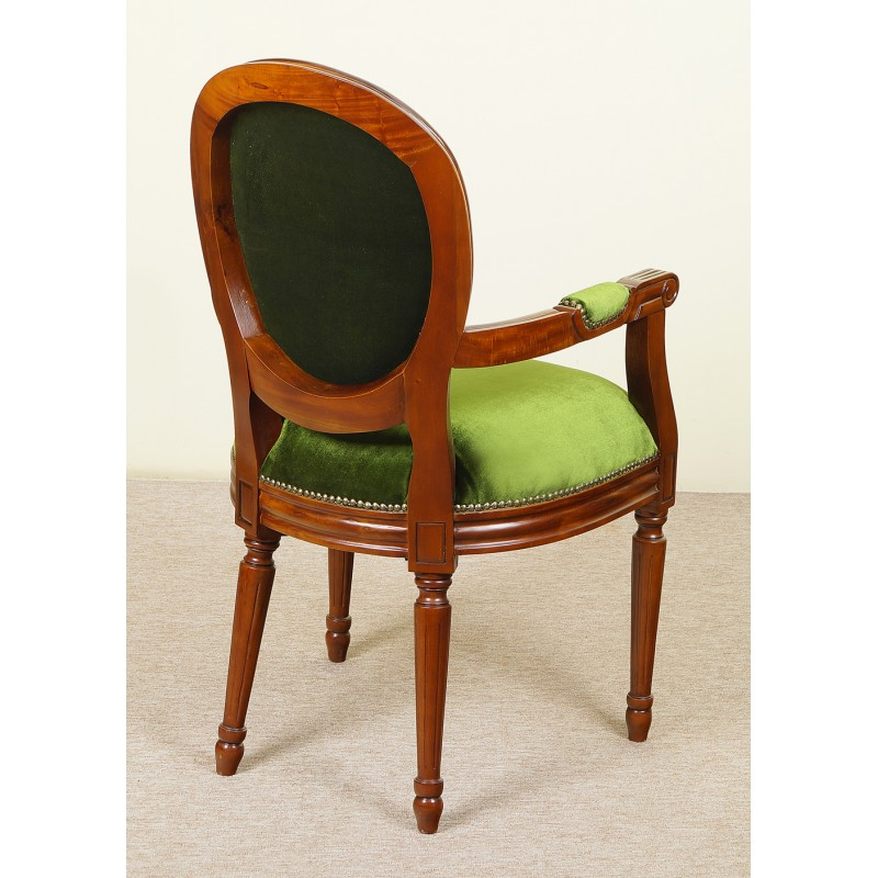 Whole chair dimensions(including the arms): Dining chair with armrests louis style - LIVETIME.pl
