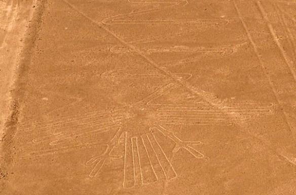 Ett flygfoto av bild från Nasca.