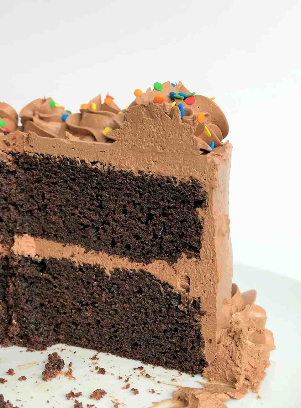 Chocoalte Cake with Chocolate Buttercream