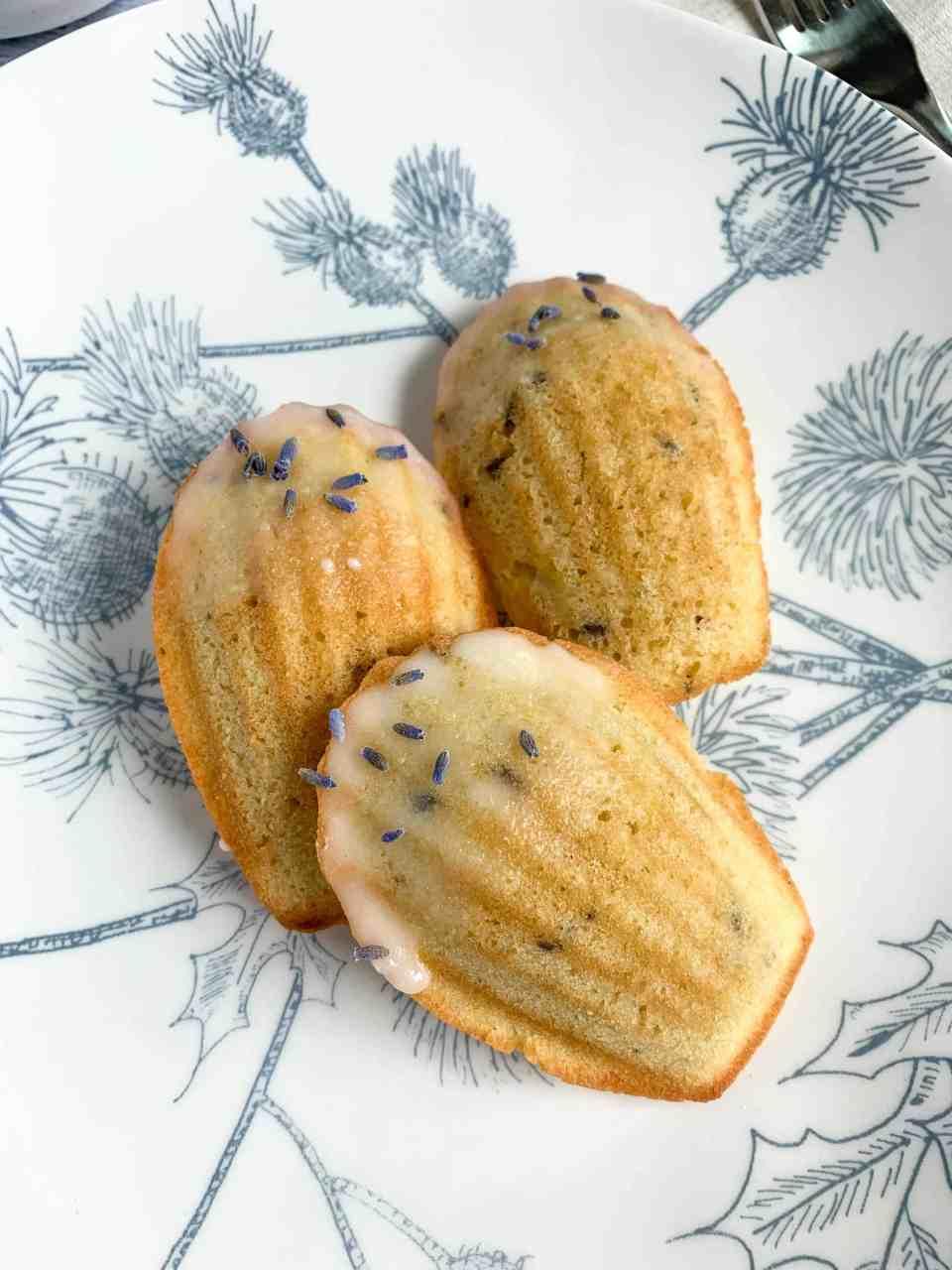 lemon lavender madeleines